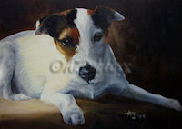 Painting of a Parson Jack Russell Terrier